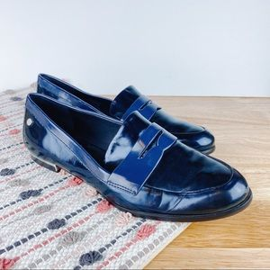 Calvin Klein Celia Dark Blue Iridescent Loafers